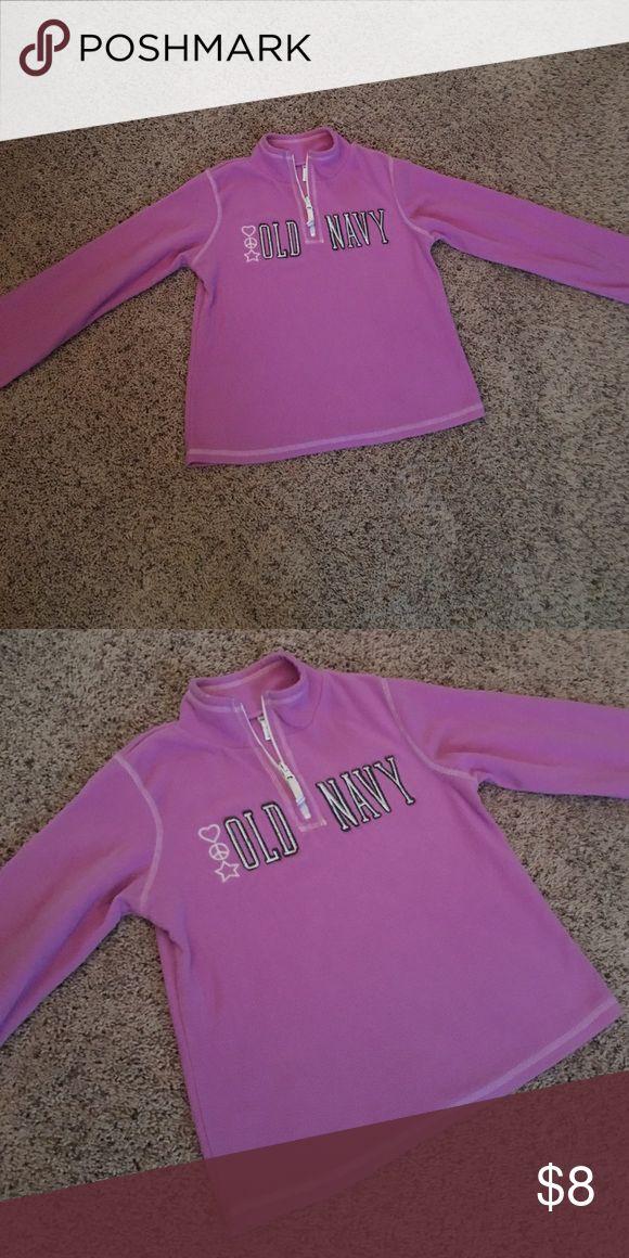 Girls Size Large 10/12 Old Navy Fleece Fleece Pullover Old Navy Jackets & Coats