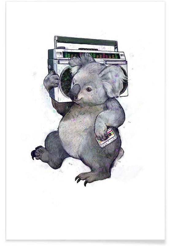 Koala als Premium Poster von Laura Graves | JUNIQE