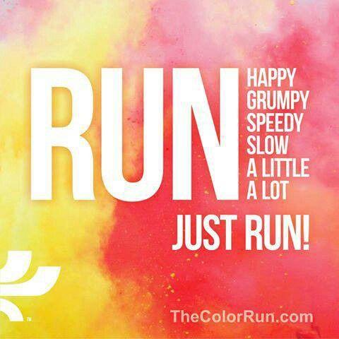 Colour run. One day!!
