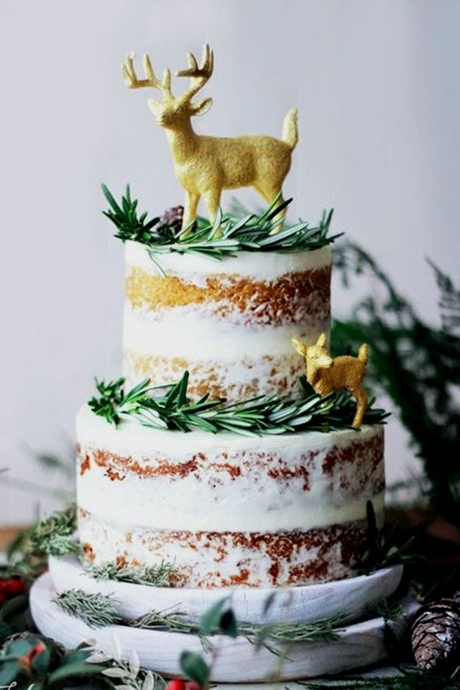 27 Must-See Rustic Woodland Themed Wedding Cakes ❤ See more: http://www.weddingforward.com/woodland-themed-wedding-cakes/ #weddings
