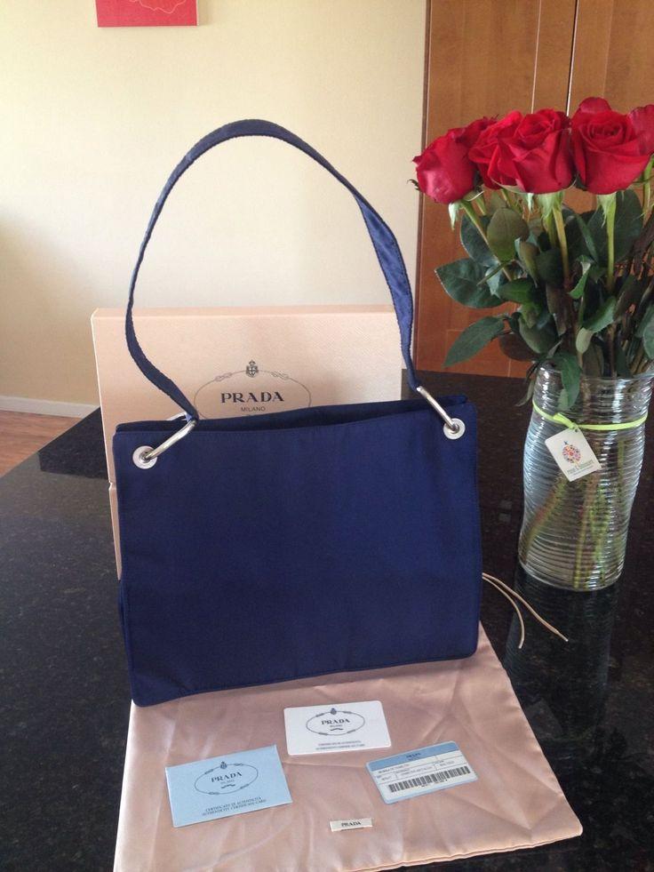 NEW Prada Borsa Tessuto Metallo Nylon Messenger Shoulder Bag Handbag Unisex $299.99