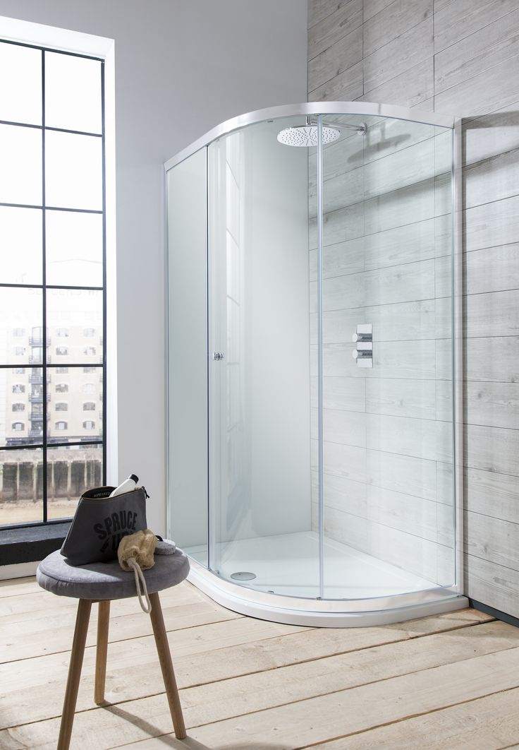 A spatially aware yet on-trend shower fixture - Edge Quadrant Single Door Shower Enclosure from SImpsons. http://www.crosswater.co.uk/product/showering-shower-enclosures-browse-by-type-quadrant/edge-quadrant-single-door-shower-enclosure-edge-quad-single/