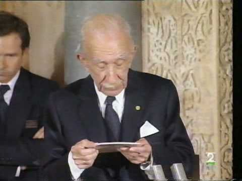 Emilio García Gómez (1905-1995), arabista y traductor español. Premio Príncipe de Asturias de Comunicación y Humanidades, 1992.