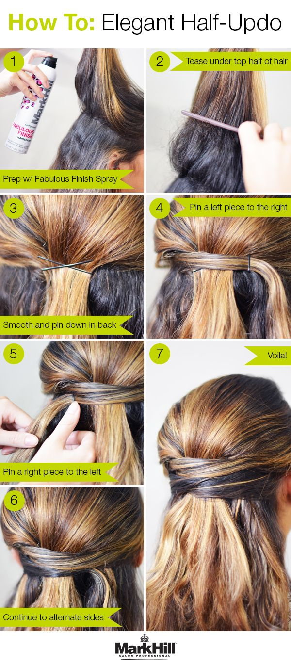 This half-updo tutorial is an easy way to get an elegant look with zero hassle.