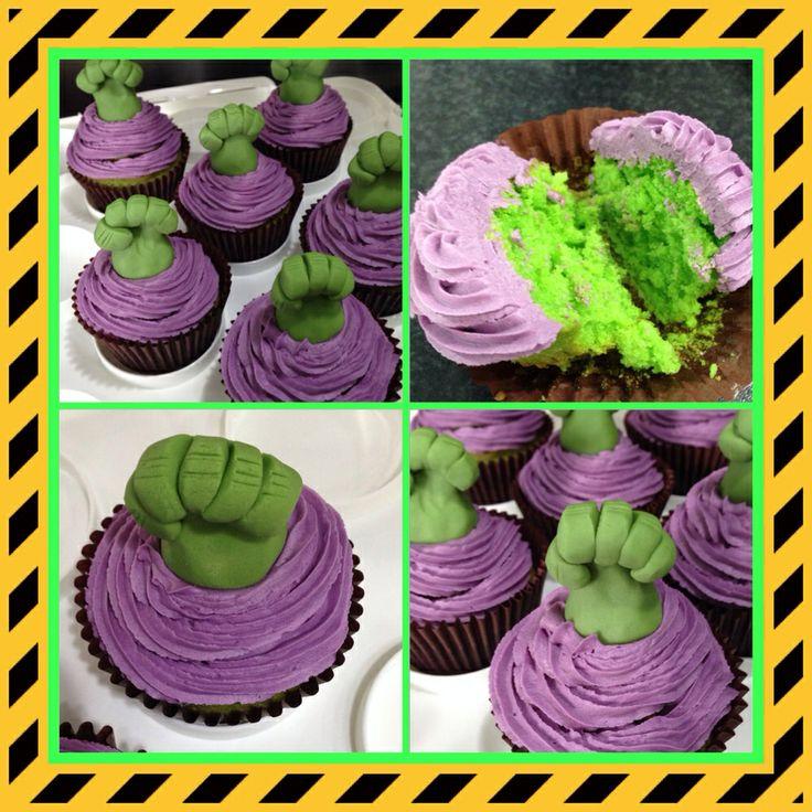 Gamma Ray Hulk Smash cupcakes