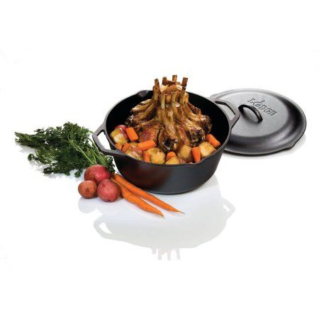 Would love this for baking crispy breads and making stews. YUM Lodge Logic 7 Quart Cast Iron Dutch Oven