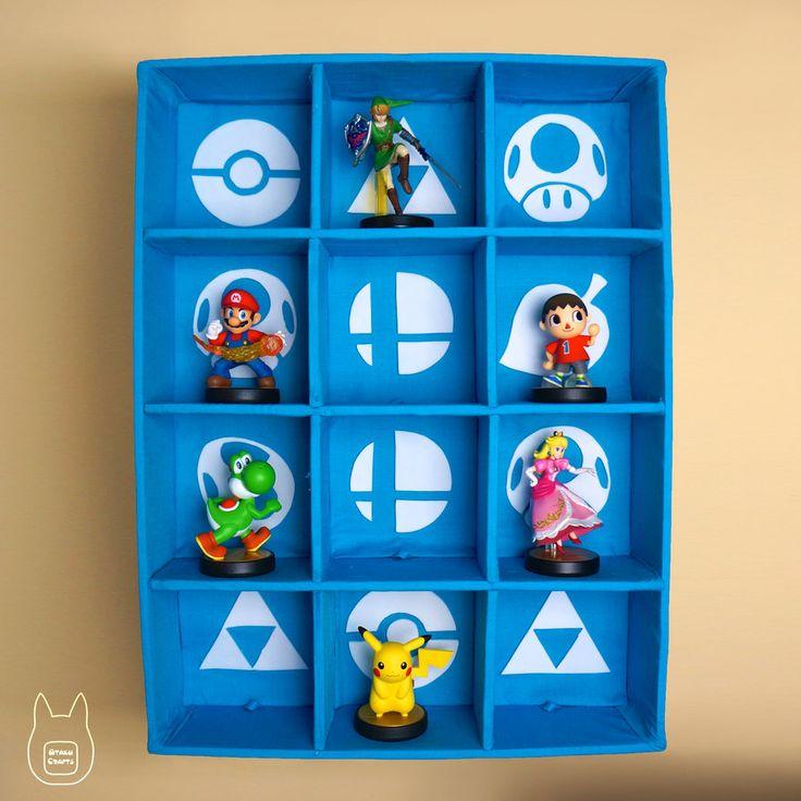Smash Bros. Amiibo Display Case (Tutorial) by studioofmm on DeviantArt