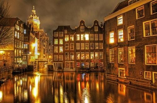Golden evening, Amsterdam...