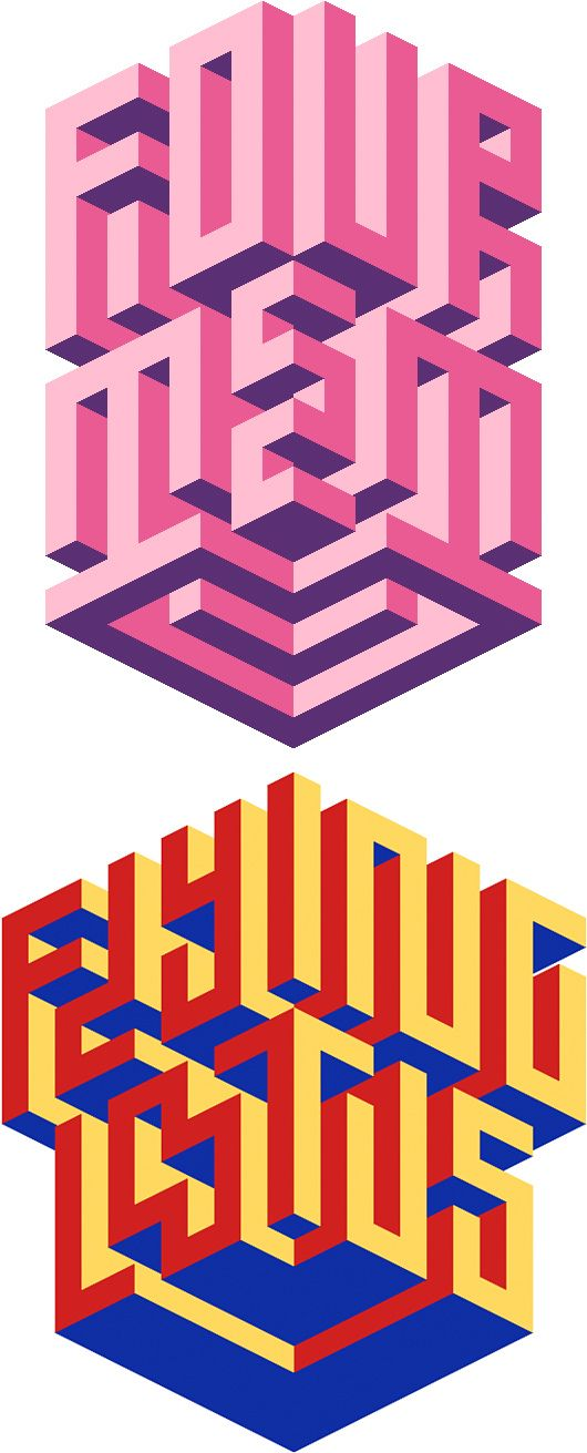 Isometric Typography by Maxim Tictac | Inspiration Grid | Design Inspiration