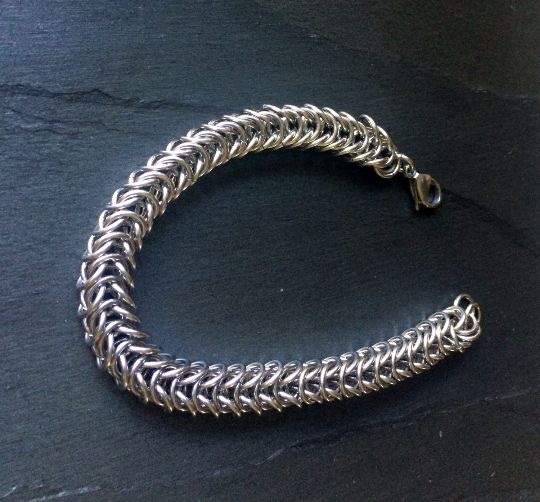 Stainless Steel Box Chainmail Bracelet  Find Here: http://etsy.me/1ZiPZtq