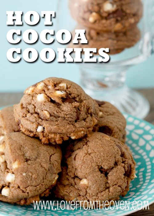 Hot Cocoa Cookies - so yummy you can find the recipe on the Jet-Puffed Mallow Bits containers!   It doesn't have to be chilly to enjoy these treats.  By @Christi | Love From The Oven