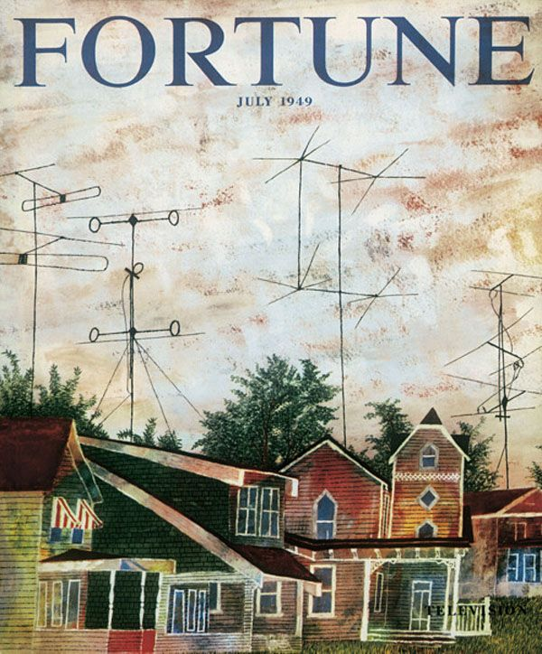 Fortune Cover (July 1949) by Ben Shahn, art direction by Will Burtin