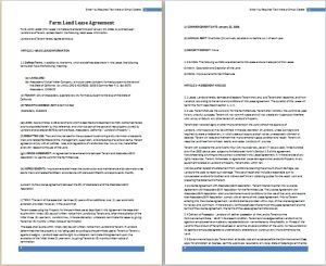 farm land lease agreement template at http://freeagreementtemplates.com/farm-land-lease-agreement-template-free/