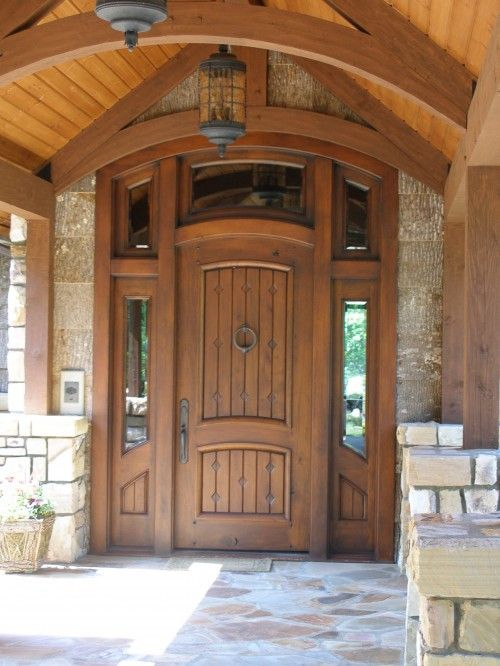 17 best ideas about rustic front doors on pinterest for Entry door with frame