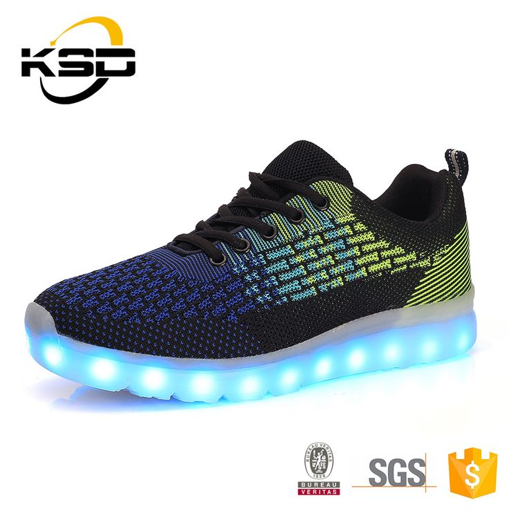 LED Light Up Shoes Camouflage Flying Weaving Flashing Sneakers for Men Women