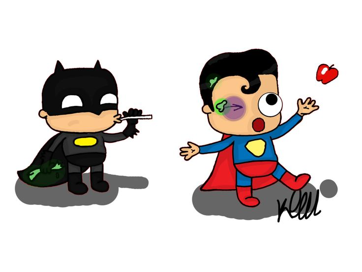 New to KaylieghKartoons on Etsy: Batman vs Superman print (15.00 GBP)