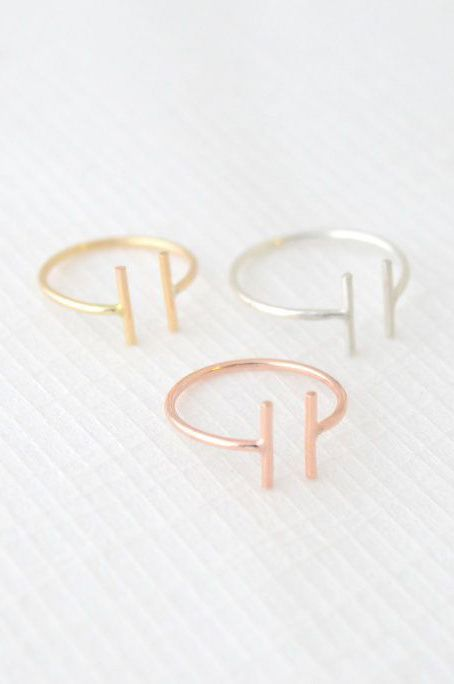 I really like Minimalistic jewelry such as these rings.