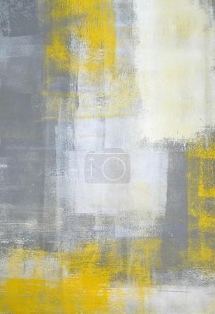 šedá a žlutá abstraktního umění, malířství