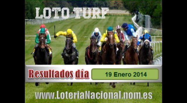 Loteria Nacional presenta Lototurf sorteo del Domingo 19 Enero de 2014. Creditos: www.loterianacional.nom.es