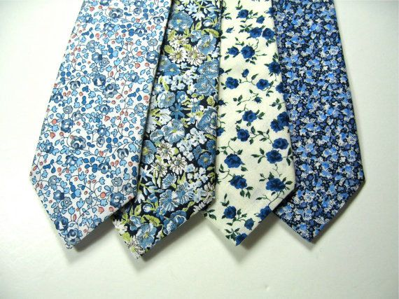 Looking for that extra pop of something unique? Check out these Blue Liberty of London Print Necktie custom by staghandmade, $38.00