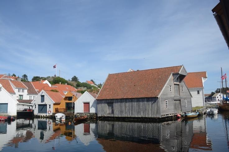 Parti fra havnen i Skudeneshavn, Norges sommerby.