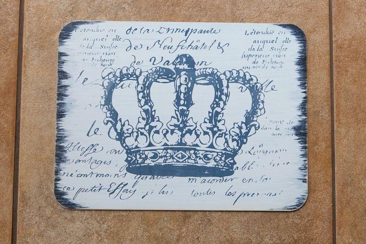 Placemats Grey Crown Set