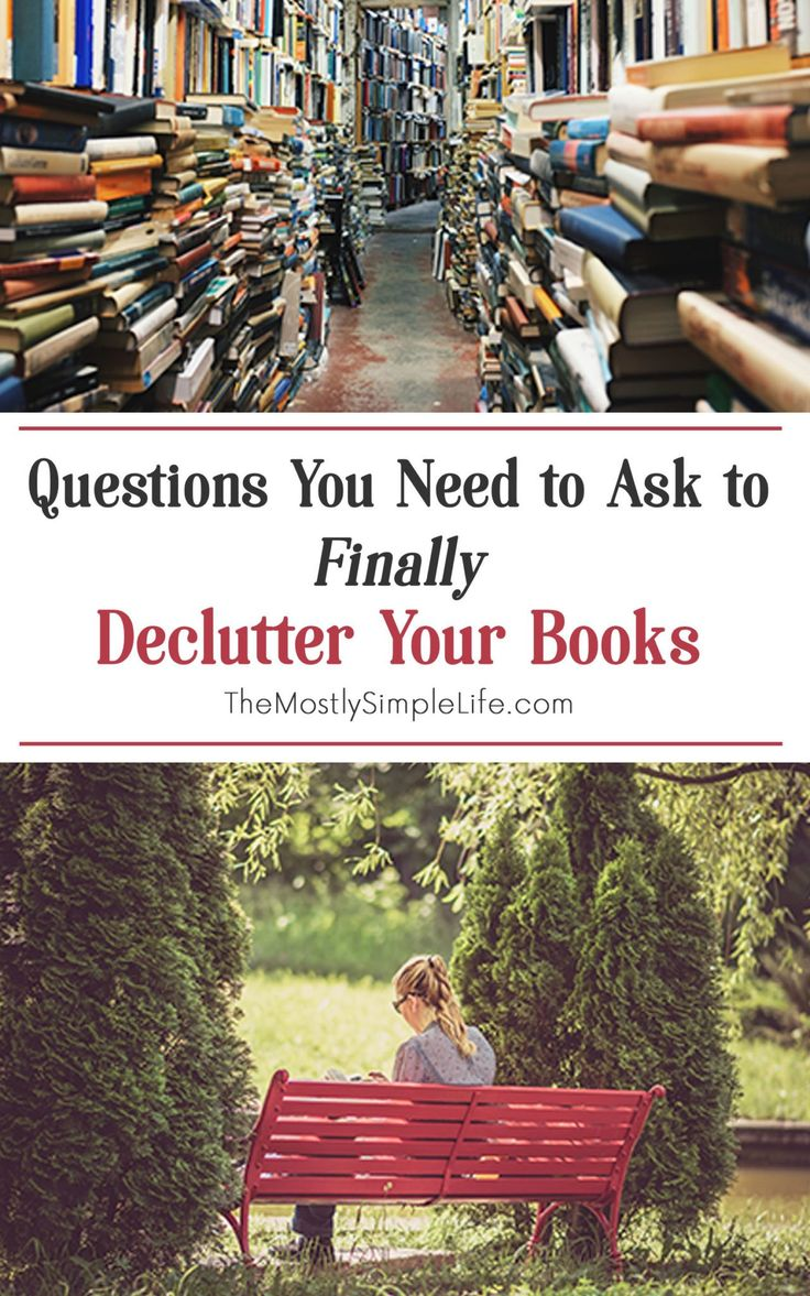 Why is it SO hard to declutter books? These are some good thoughts on getting rid of books clutter - some tips I didn't think of before. I love reading, but it might be a bit life changing to downsize my book collection (especially for when we move!).