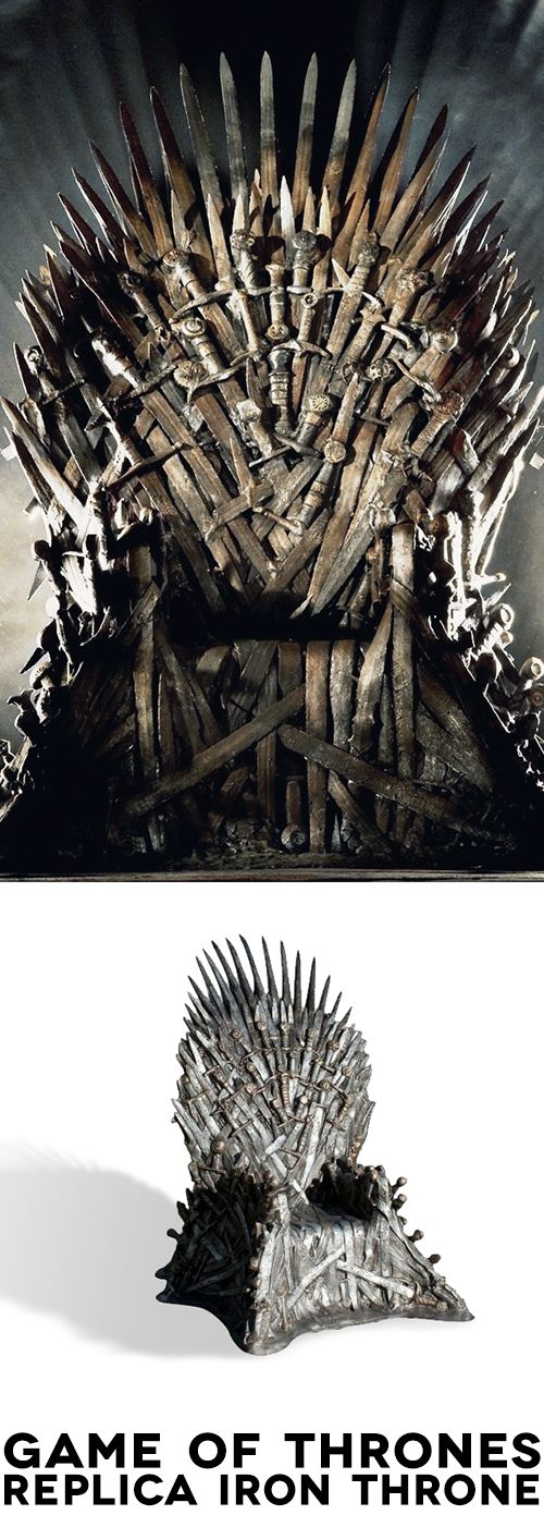 We couldn't get the 'real' Iron Throne, because, well, we'd have to invade Westeros and conquer the Seven Kingdoms. Then we'd have to consider the implications of the White Walkers, and the potential for Wildlings to cross the wall, not to mention there's a chick with pet dragons intent on stealing our new chair. So put down your broadsword, call off your direwolves, command your armies to stand down, because for the low, low price of £20,000 you can have your own Game of Thrones Iron…