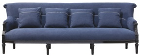 Sofa Chateaubriand large Mise en Demeure (Source : http://www.misendemeure.com/product_info.php?products_id=1922) #home #decoration #sofa #denim #jeans