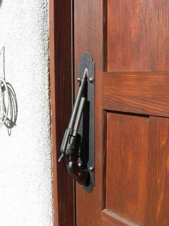 This is a great handle to a man cave, gun closet, or even garage!!