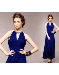 Vestido largó azul rey moda asiática japonesa Disponible en www.alemaraglam.com