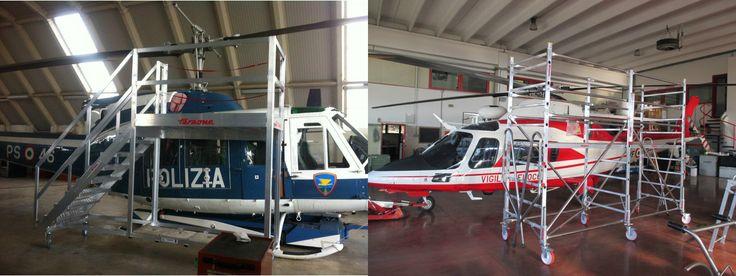 Faraone Industrie è specializzata nei lavori in quota.  Presenta alcune realizzazione speciali per fare manutenzione  ad aeromobili ed elicotteri.  Guarda alcuni dei nostri lavori QUI www.faraone.com