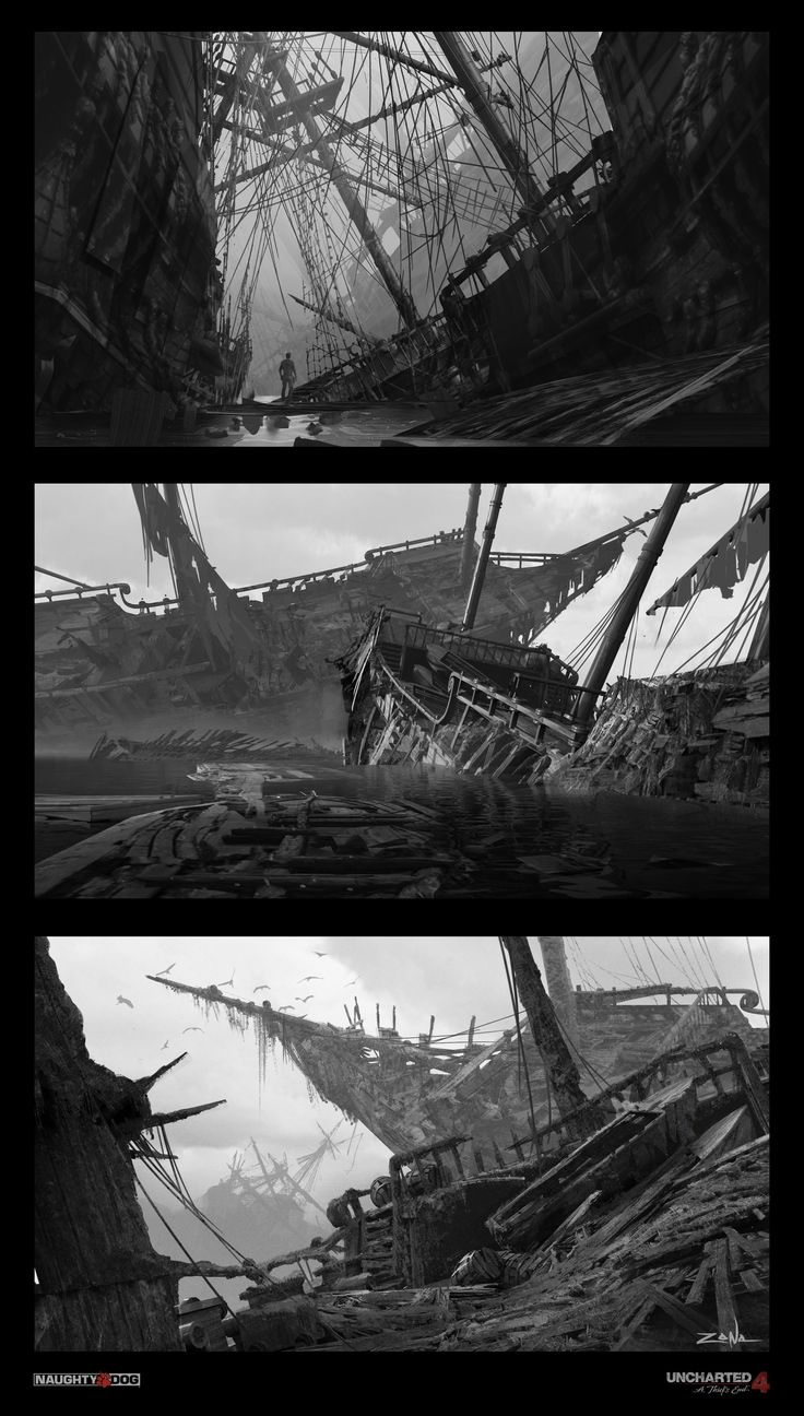 ArtStation - Uncharted 4 - B&W Sketches, Eytan Zana