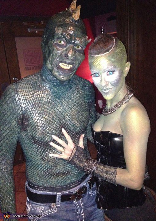 lizard man great halloween costume idea for couples - Great Halloween Ideas