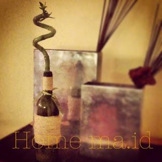 HOME MAde IDeas: Riciclare bottiglie di vetro: Vaso Decorato