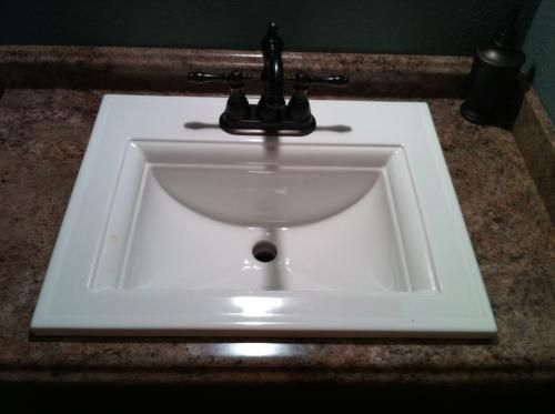 Memoirs Kohler Sink : KOHLER Bathroom. Memoirs Self-Rimming Bathroom Sink in White K-2337-4 ...
