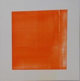 """Stephen Bambury, """"volume is flattened and the plane changes to line"""", 2006, acrylic on aluminium, 800 x 600mm"""