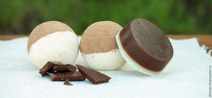 """Купить Бомбочка """"Шоколад"""" - коричневый, бомбочка для ванны, бомбочка шоколадная, гейзер для ванны, шипучка для ванны"""