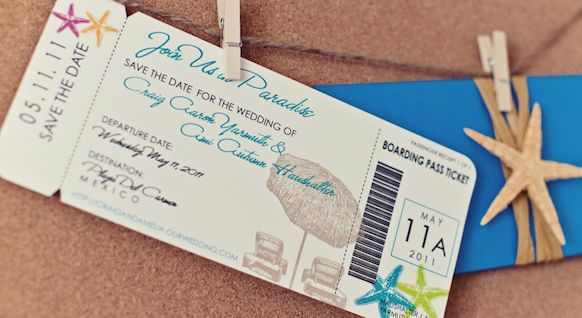 Save the dates- boarding pass