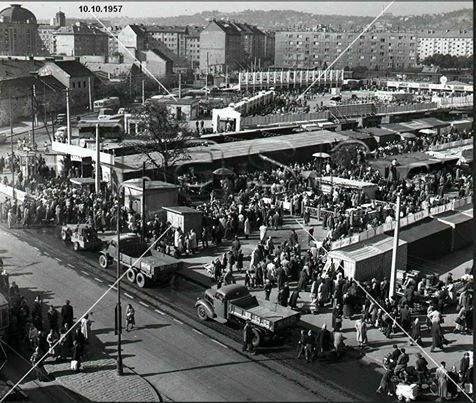 Centrálne trhovisko na Trnavskom Mýte 1957