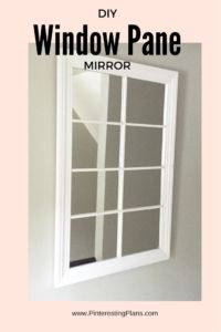 DIY Window Pane Mirror