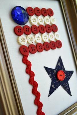 Button American Flag - Memorial Day Craft
