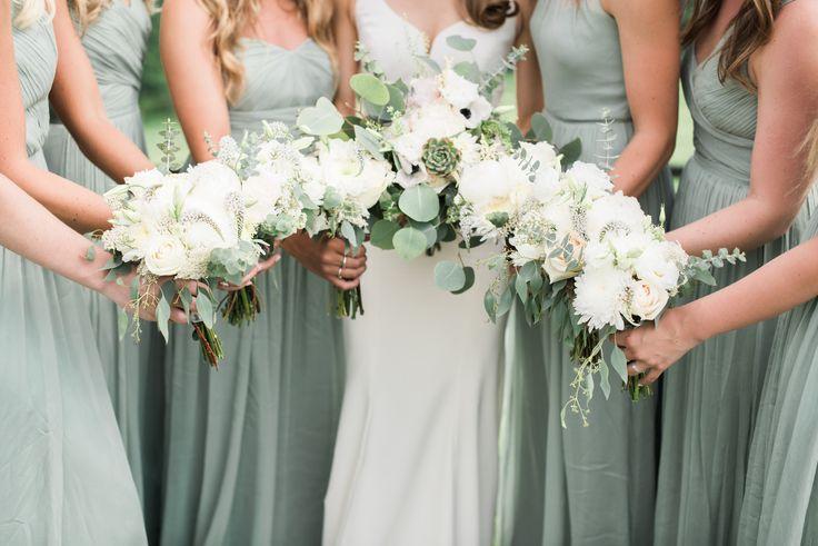 J Crew   Dusty Shale   Bouquet   Flowers   Wedding   Summer Wedding   Succulent   Bridesmaids   Summer Wedding Wedding Photography   © Voyage
