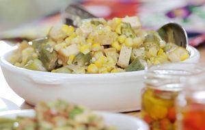 A receita ainda acompanha um molhinho com amêndoas, o que deixa o prato mais saboroso e crocante