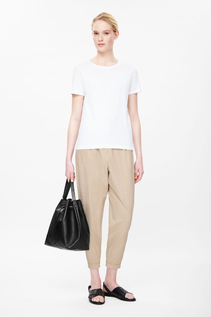 Loose-fit cotton chinos