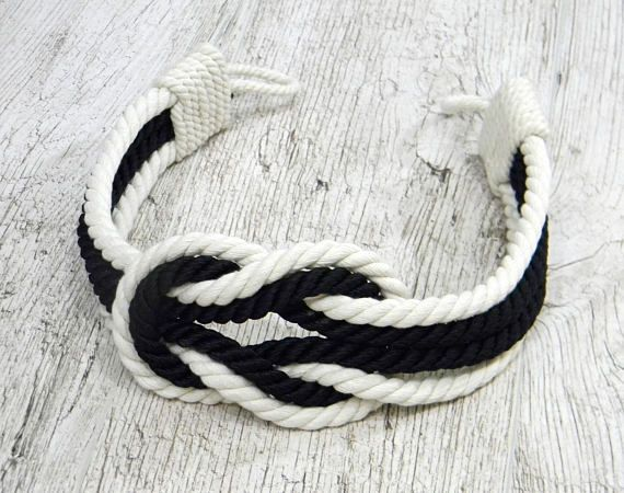 Black And White Curtain Tie Backs Double Square Knot Wedding