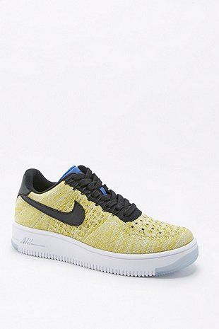 Nike Air Force 1 Flyknit Dark Yellow Trainers