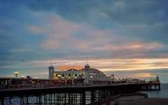 brighton pier at sunset...ooh and with the starlings...