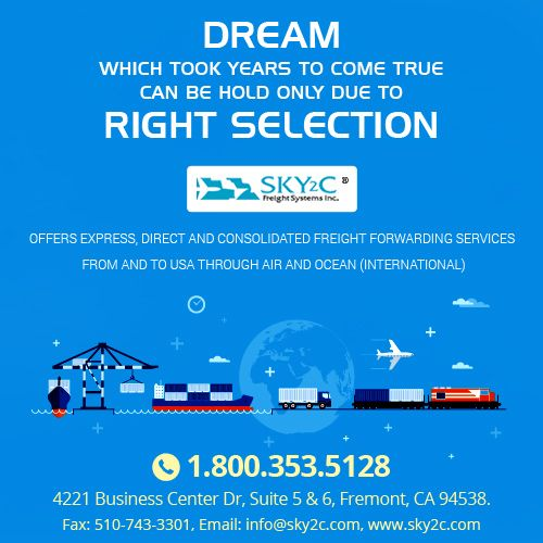 Sky2C has developed a unique reputation for efficient, timely, and cost-effective solutions for moving personal goods freight, commercial freight services and in freight goods services.