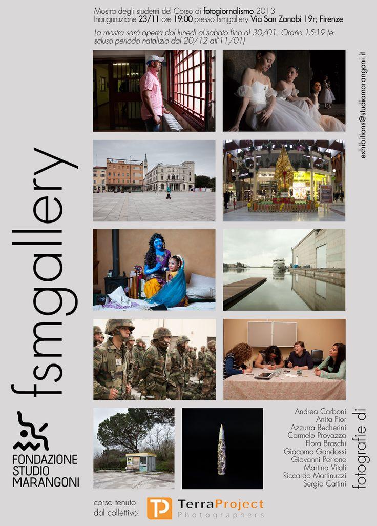 Mostra degli studenti del Corso di Fotogiornalismo 2013 - Inaugurazione sabato 23 novembre ore 19 - fsmgallery dal 25 novembre 2013 al 30 gennaio 2014 - dal lunedì al sabato con orario 15/19 (escluso periodo natalizio 20 dicembre/11 gennaio) - Ingresso libero